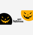 happy halloween funny and scary banner background vector image vector image