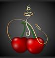 hookah cherry vector image vector image