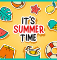 its summer time background summer banner vector image vector image