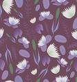 Lake plants flora pattern background vector image vector image