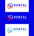 logo of the dental company vector image
