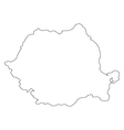 map romania vector image vector image