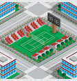 map stadium with a tennis court vector image vector image