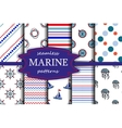Navy seamless patterns vector image