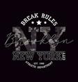 New york brooklyn t-shirt design with slogan