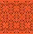 orange black halloween scroll background pattern vector image vector image