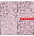 patterns with hand-sketched roses vector image