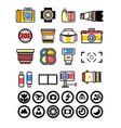 photographer kit camera elements vector image