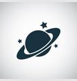 planet icon for web and ui on white background vector image