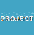 project concept for web site header vector image