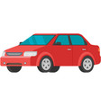 red car rent buy icon isolated vector image