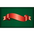 Red ribbon satin bow green vector image vector image