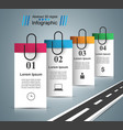 road infographic design template and marketing vector image vector image