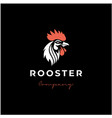 rooster head logo design vector image vector image