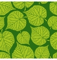 Seamless nature pattern with green leaves vector image vector image