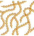 seamless pattern with golden chains vector image vector image