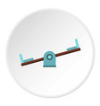 seesaw on a playground icon circle vector image vector image
