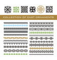 set of ethnic geometric signs and borders east vector image vector image