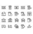 shopping online icon set vector image