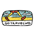 traveling colored vector image vector image