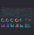 user interface with infographic dashboard annual vector image vector image
