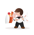 Wedding kiss vector image