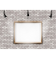 White brick wall picture projector vector image vector image