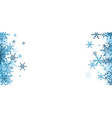 Winter background with blue snowflakes vector image vector image