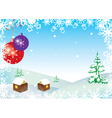 winter with balls and snowflakes vector image vector image