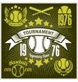Baseball tournament emblem for t-shirt vector image