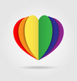 rainbow heart icon logo on white background vector image