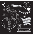 Set of icons for wedding vector image