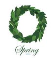 floral wreath of leaves of lily of the valley vector image