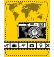 Travel set of camera map and travel icons vector image