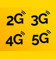 5g icon 4g logo on blue 2g network vector image vector image