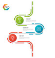 abstract 3 steps road timeline infographic vector image vector image