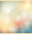 abstract blurred bokeh lights soft color vector image vector image