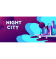 abstract city banner vector image vector image