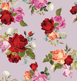 Abstract seamless floral pattern with white pink vector image vector image