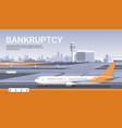 airport with parked airplanes coronavirus pandemic vector image vector image