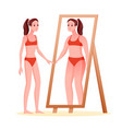 anorexia eating disorder concept weight loss vector image