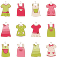 Baby girl dress collection vector image