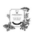 badge design with black and white angelica basil vector image vector image
