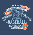 baseball kids team league champs vector image vector image