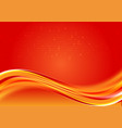 beautiful abstract wave red color background with vector image
