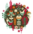 Birds flowers and other nature vector image vector image