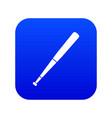 black baseball bat icon digital blue vector image vector image