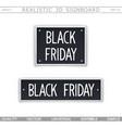 black friday 3d signboard vector image