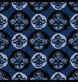 blue folklore floral vector image vector image