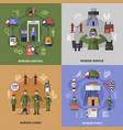 border guard 2x2 icons set vector image vector image